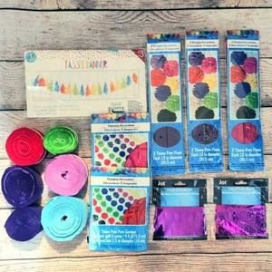 Birthday Party Streamers Decorations Bundle